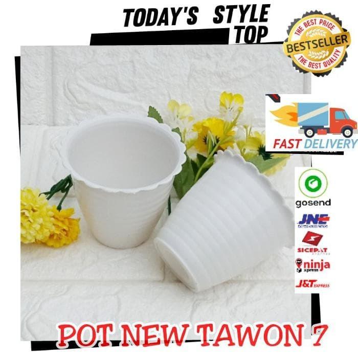 Jual Pot New Tawon 7 Putih 7 5 Cm Pot Bunga Putih Plastik Vas Bunga Kecil Jakarta Selatan Nanta Shoping Tokopedia