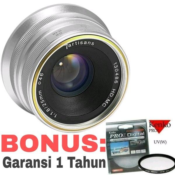 Foto Produk Lensa 7Artisans 25mm F1 8 Lensa wide For Fuji X Mount Lens BONUS dari danielmonicashop