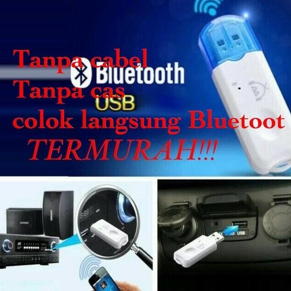 Foto Produk Usb Bluetooth receiver Adapter Music Call Audio Receiver Plug Pl dari reinastore915