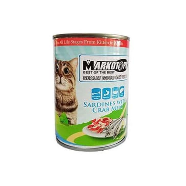 Foto Produk markotops 400 gr cat sardines with crab meat dari F.J. Pet Shop