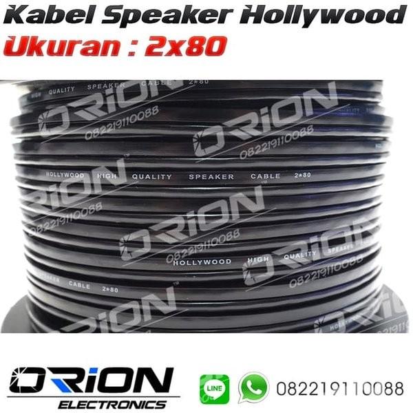 Foto Produk TERLARIS Kabel Speaker Hollywood 2x80 Per Meter dari reinastore915