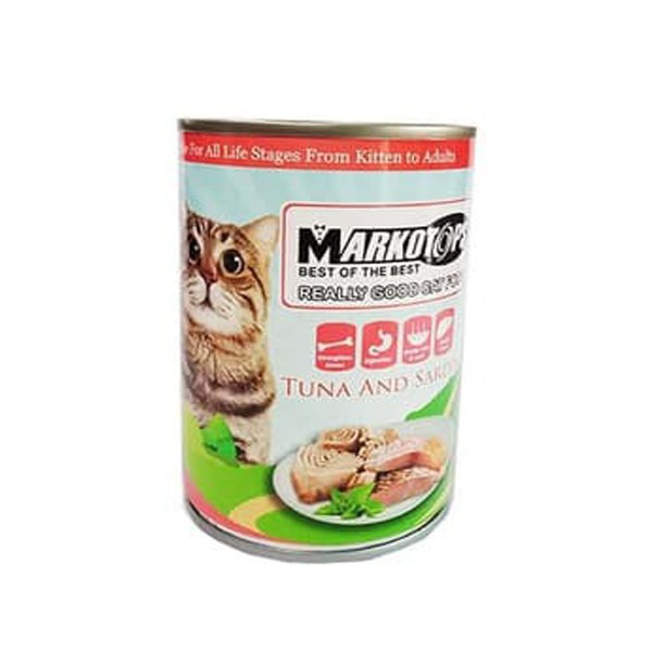 Foto Produk markotops 400 gr cat tuna and sardines dari F.J. Pet Shop