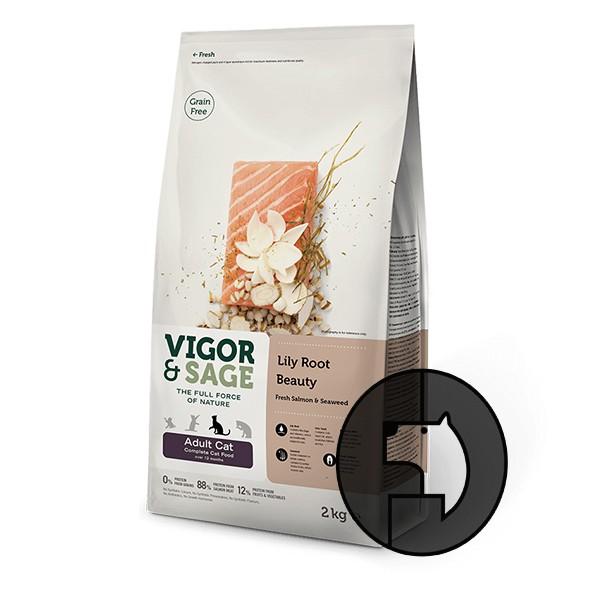Foto Produk vigor & sage 4 kg cat adult cat lily root beauty fresh salmon seaweed dari F.J. Pet Shop