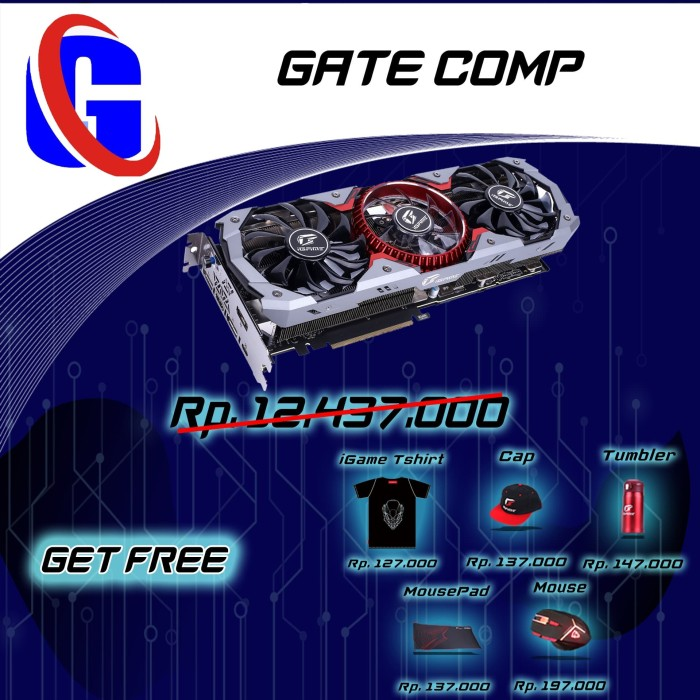 Foto Produk Colorful GeForce RTX 2080 SUPER 8G-V dari Gatecomp Technology