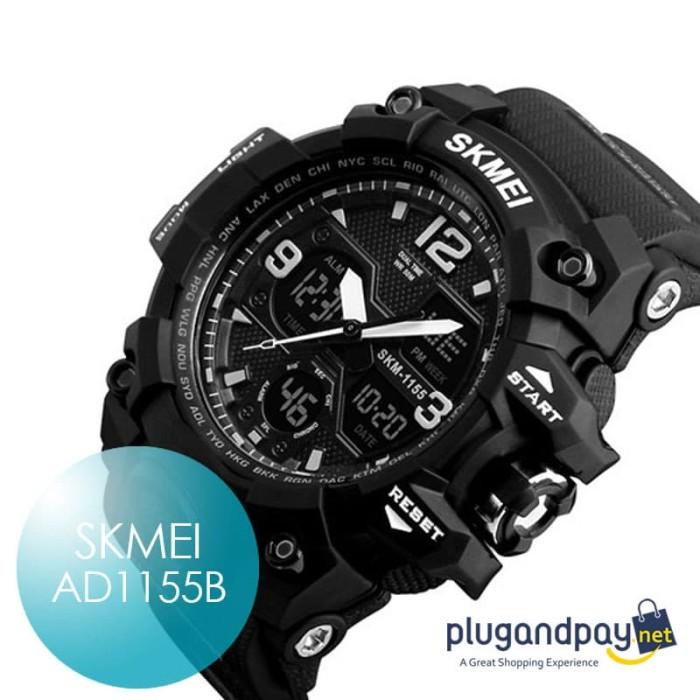 Foto Produk Jam Tangan Arloji Karet Sport Watch Rubber SKMEI AD1155B 1155 dari plugandpay