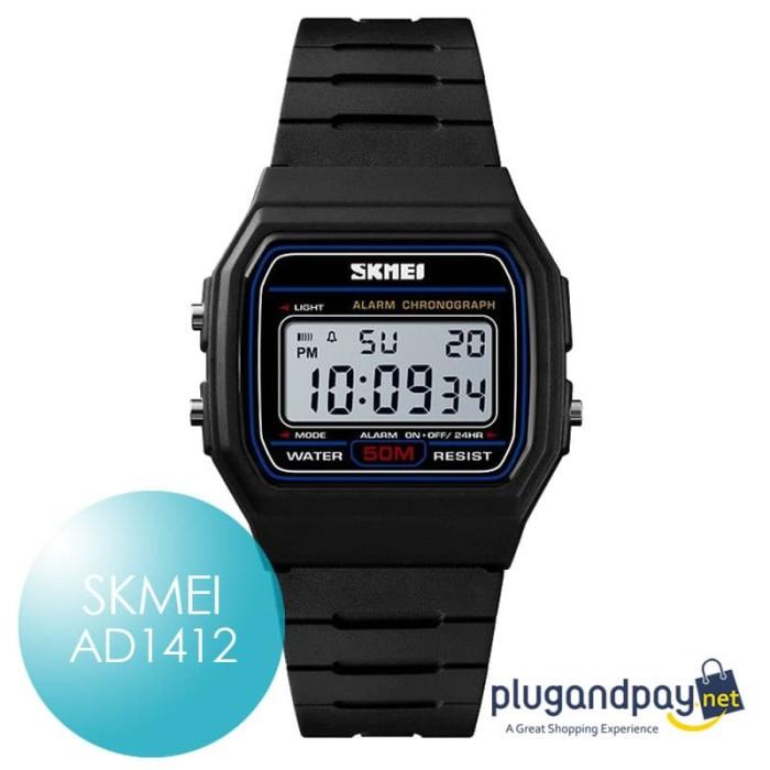 Foto Produk Jam Tangan Arloji Karet Sport Watch Rubber SKMEI 1412 dari plugandpay