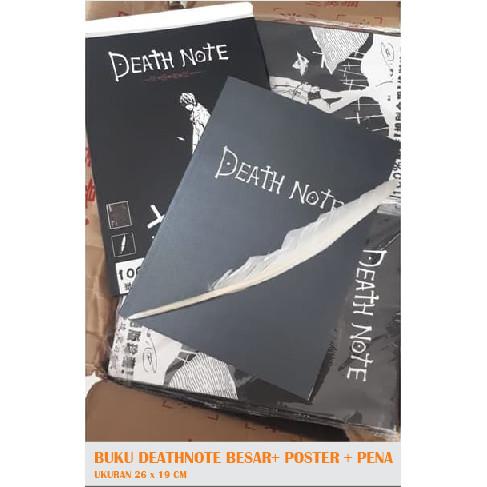 Foto Produk Buku DEATHNOTE Besar Hitam Bulu Book Buku Pena Poster Anime dari LOVERSSHOP