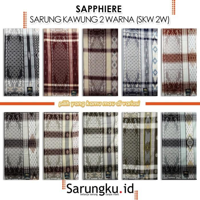 Foto Produk SARUNG SAPPHIRE SARUNG KAWUNG 2 WARNA (SKW 2W) - Cover dari SarungkuID