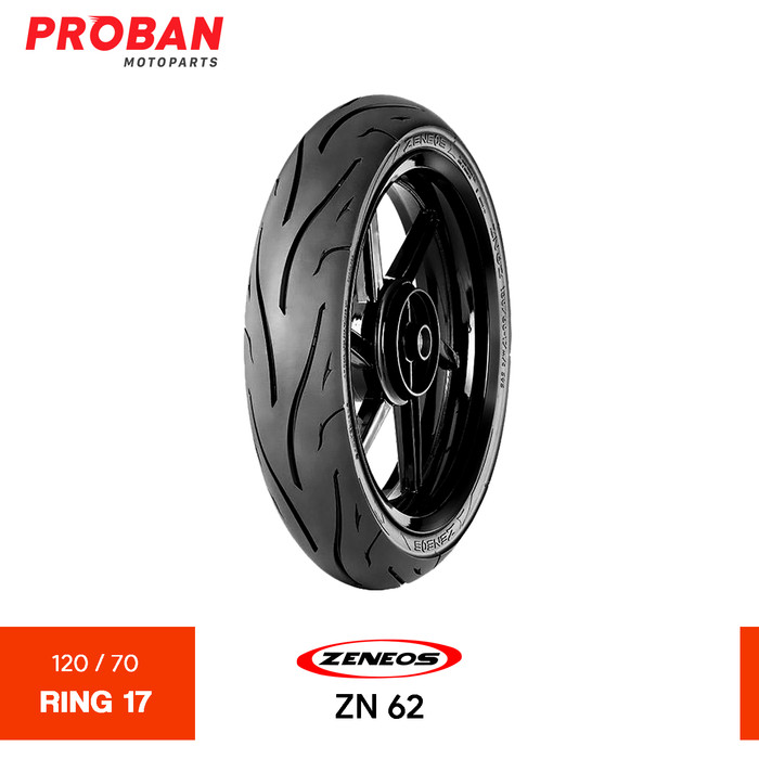 Foto Produk ZENEOS TL ZN 62 120/70-17 Ban Motor Tubeless dari Proban Motoparts