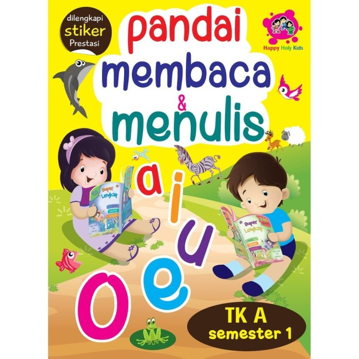 Foto Produk Buku Pandai Membaca Menulis TK A Semester 1 - Happy Holy Kids dari Republik Fiksi