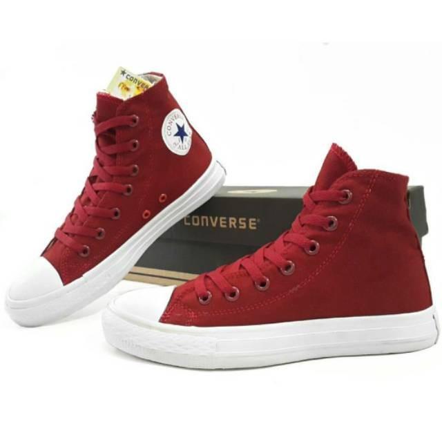 Foto Produk Sepatu Converse Marun CT Tinggi dari Kindra_Shop