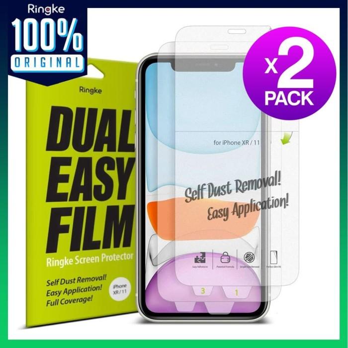 Foto Produk Screen Protector iPhone 11 Pro Max / 11 Pro / 11 Ringke Dual Easy - iPhone 11 dari Unicase Store