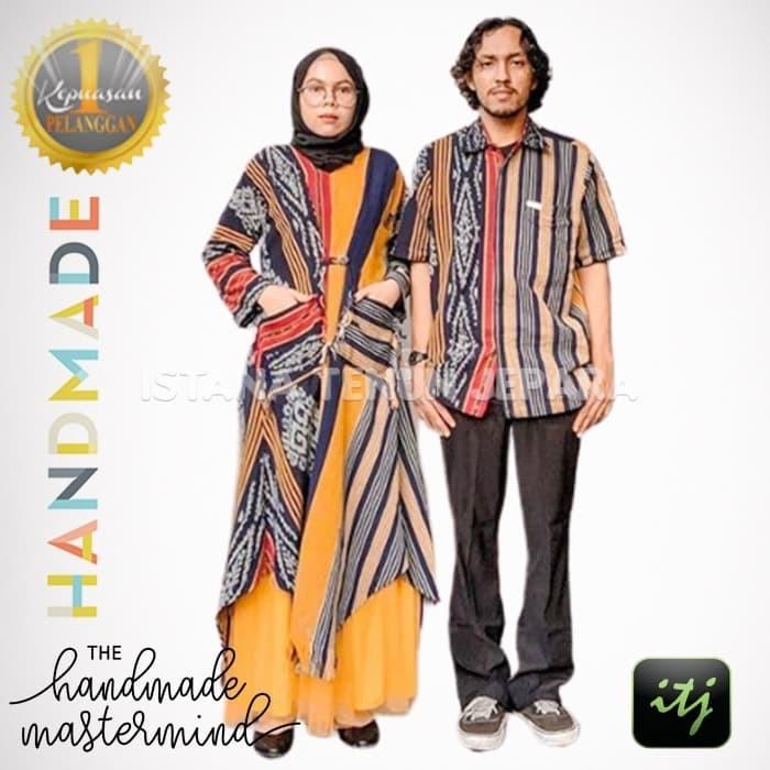 Jual Couple Sarimbit Seragam Batik Keluarga 100 Tenun Troso Bisa Custom Kab Jepara Istana Tenun Jepara Tokopedia