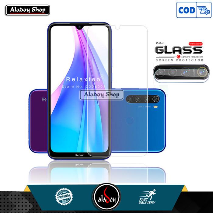 Foto Produk Aladoy Tempered Glass Layar Clear dan Camera Lens Xiaomi Redmi Note 8 dari Aladoy Shop Acc