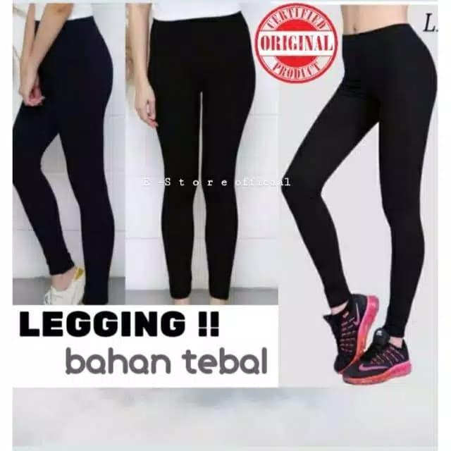 Jual Celana Legging Tebal Import Legging Highwaist Premium Hitam Jakarta Barat Tk Believe Tokopedia