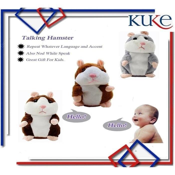 Foto Produk KUKE Talking Boneka/Mainan Boneka Bisa Bicara dan Bergerak - TALKING HAMSTER dari KUKE