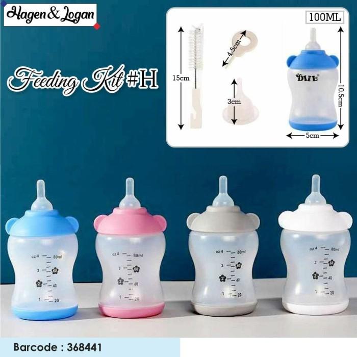Foto Produk Diil - 100ml Nursing Kit Botol Susu dot susu hewan Pet Bottles FAT dari atanta Shop
