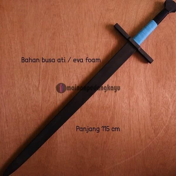 Foto Produk Mainan Pedang Busa (Eva Foam Knight Long Sword - Cosplay/LARP) dari Mainan Pedang Kayu