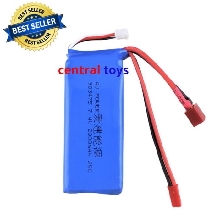Foto Produk lipo battery 2s 7.4V 2000mAH for Vortex A959 A979 A959B A979B WL 12428 dari centraltoys
