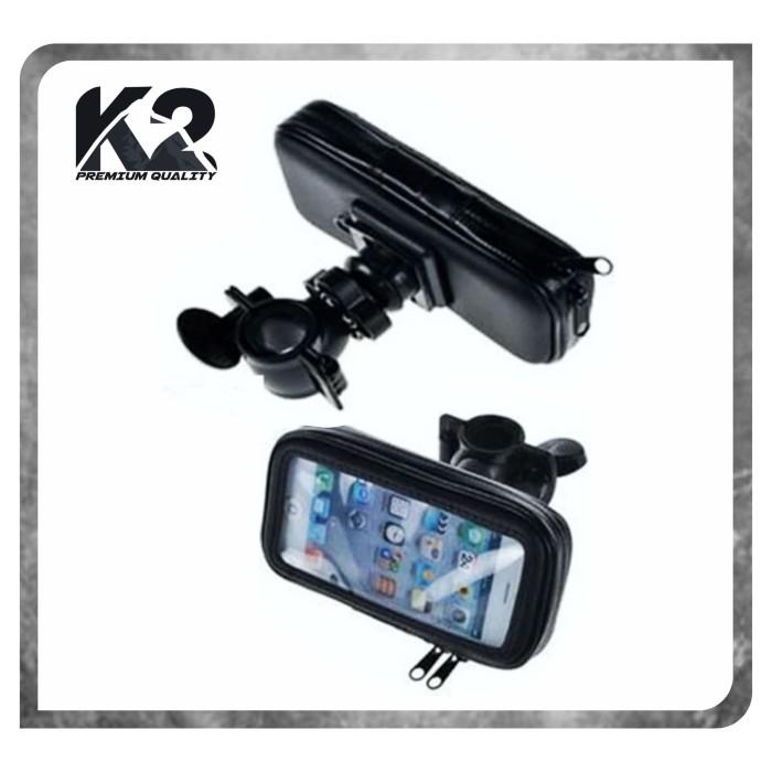 Foto Produk HOLDER STANG MOTOR / SEPEDA Waterproof / UNIVERSAL MOUNT HP dari K2 Official Store