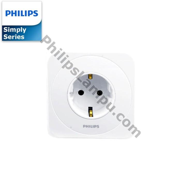 Foto Produk Stopkontak Philips Simply Putih Dengan Proteksi Anak /Child Protection dari philipslampu