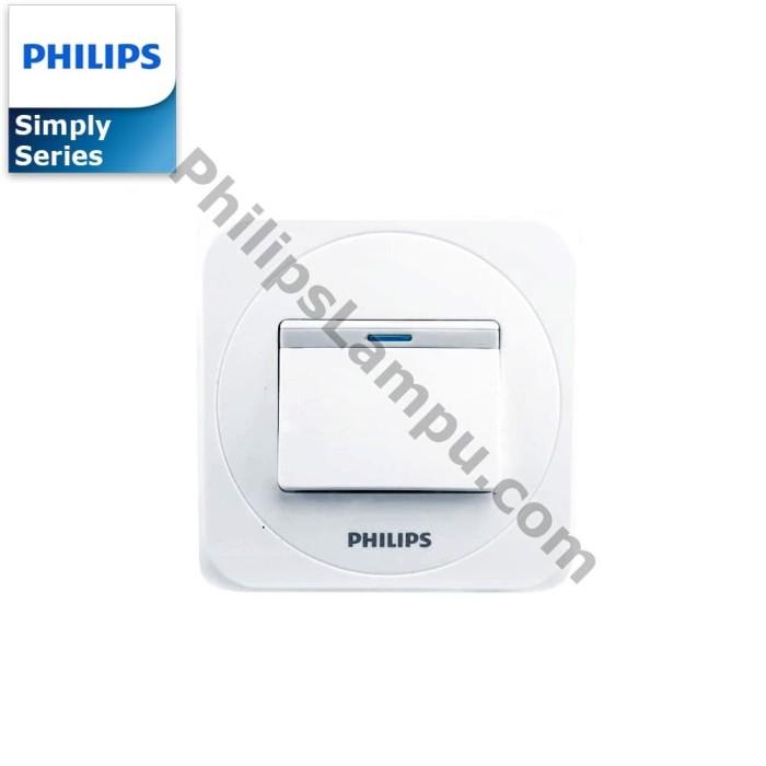 Foto Produk Saklar Engkel Philips Simply Putih 1 Tombol dari philipslampu