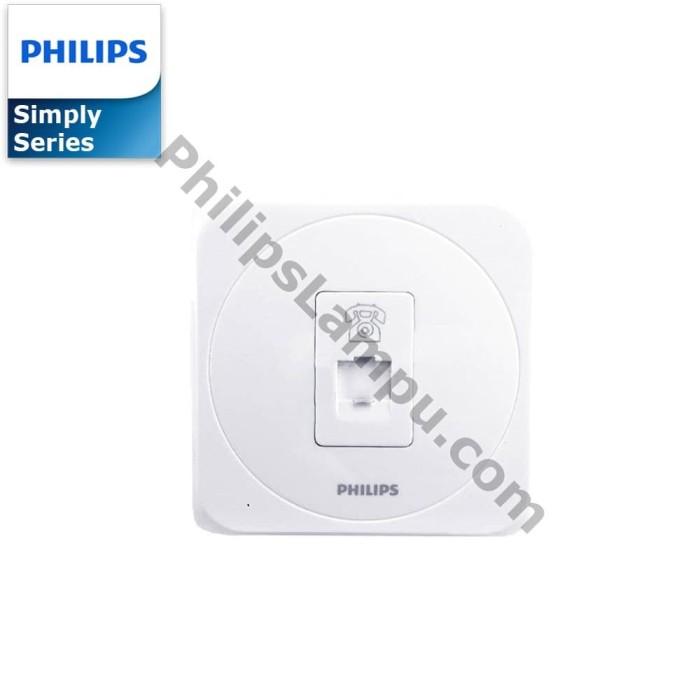 Foto Produk Soket Outlet Telepon Philips Simply Putih dari philipslampu
