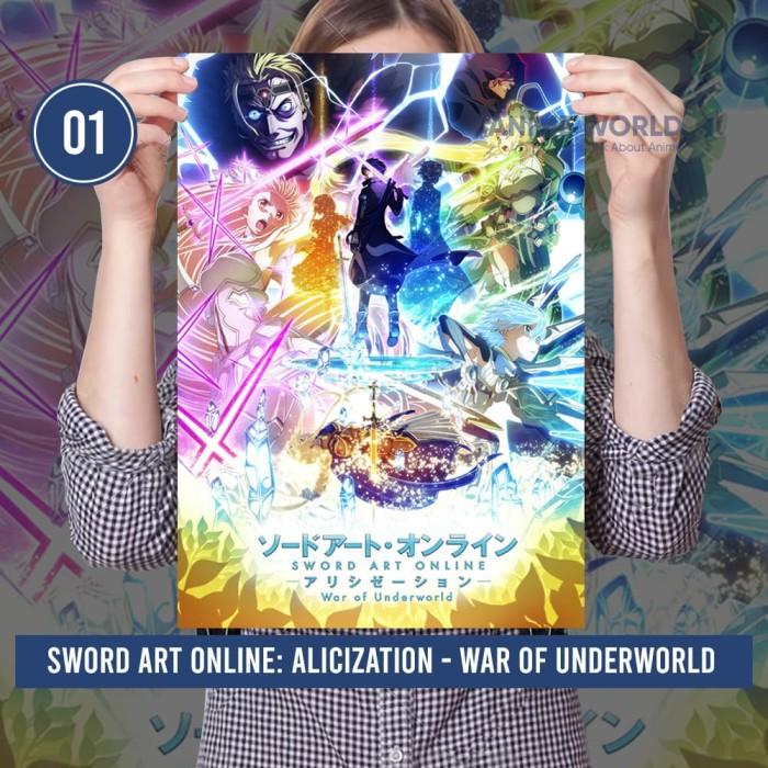 Foto Produk Poster Anime Sword Art Online: Alicization WOU Lengkap Size A3 dari Anime World Official