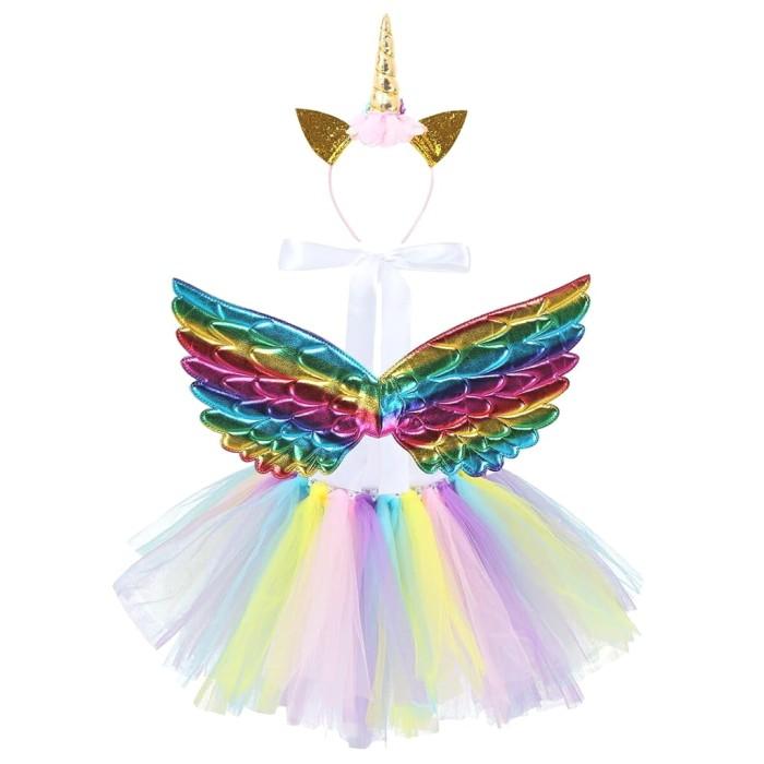 Foto Produk kostum sayap malaikat anak wings kids cosplay sayap bidadari anak - Dark Rainbow dari Kikykoo