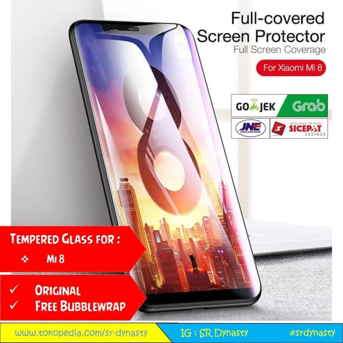 Foto Produk Tempered Glass 4D CAFELE Xiaomi Mi8 Mi 8 Full Cover dari SR Dynasty
