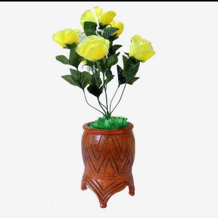Jual Kerajinan Tangan Vas Bunga Bambu Vb04 Ramah Lingkungan Kab Blitar Athaya 26 Tokopedia