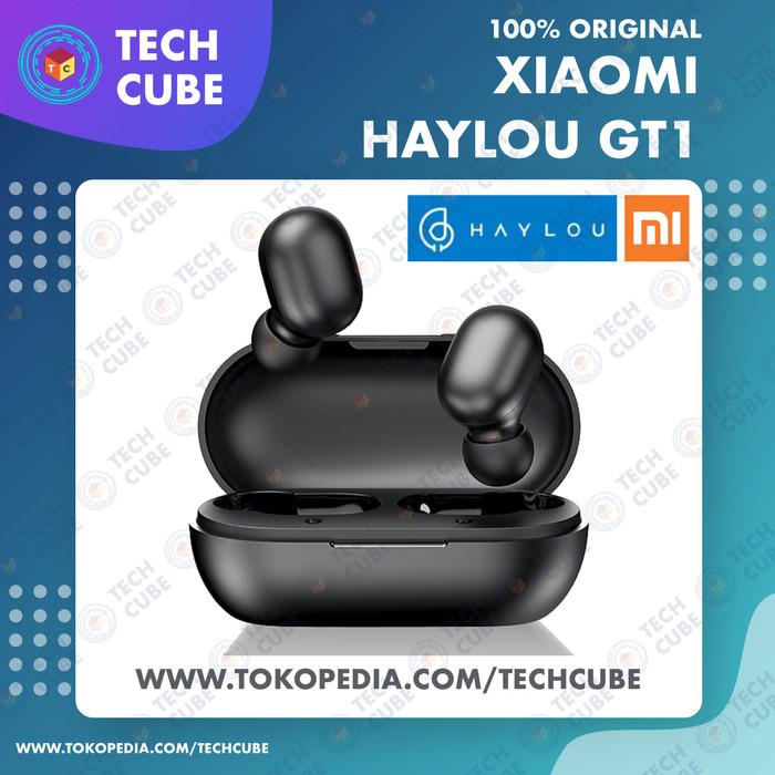 Foto Produk Xiaomi Haylou GT1 TWS Wireless Earphone Bluetooth 5.0 Touch Control - Hitam dari Tech Cube