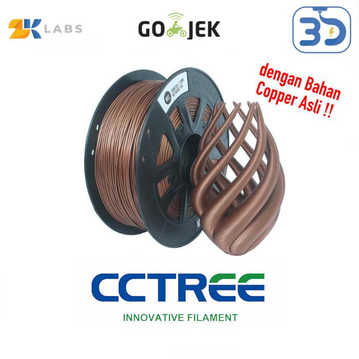 Foto Produk CCTree X ZKLabs 3D Filament Copper Bahan Import dari USA dari 3D Zaiku