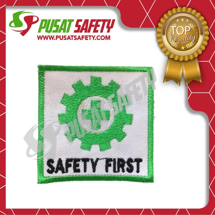 Foto Produk Emblem Bet Logo K3 Bendera Safety First dari Pusat Safety Online