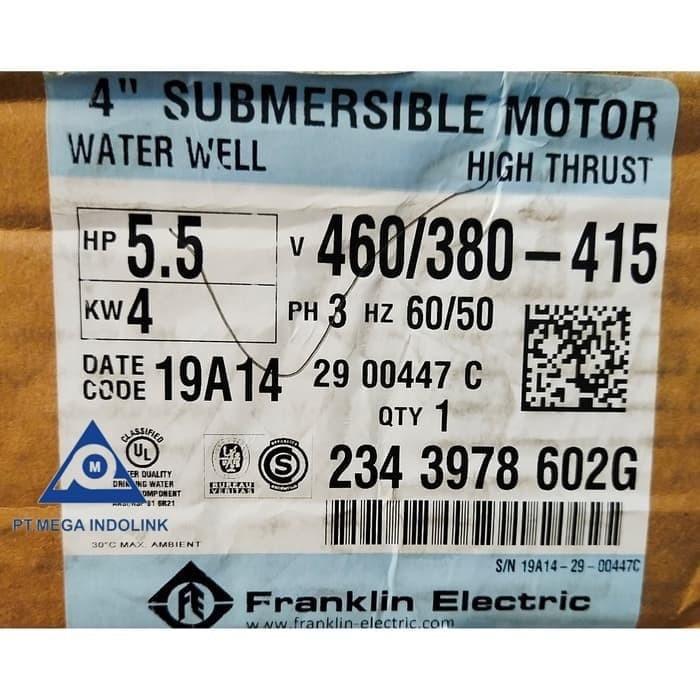 Foto Produk Motor Submersible Franklin 5.5PK dari Mega-Indolink