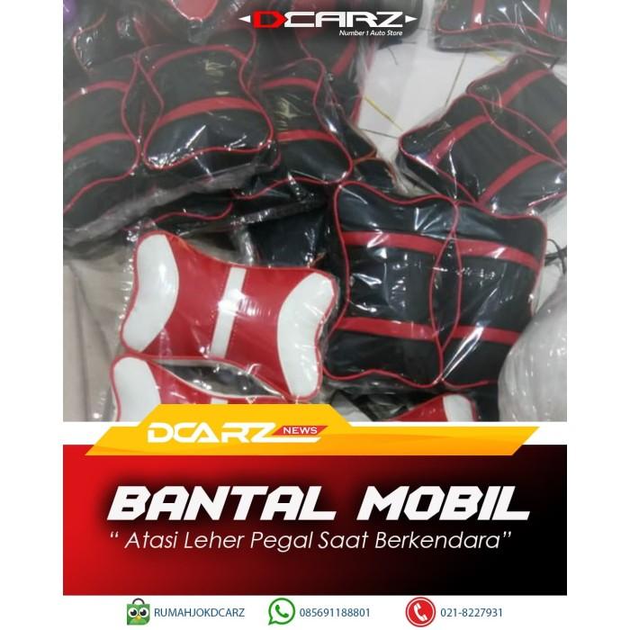 Foto Produk Bantal Mobil Kulit Warna Kombinasi Merah Putih dari RUMAH JOK DCARZ