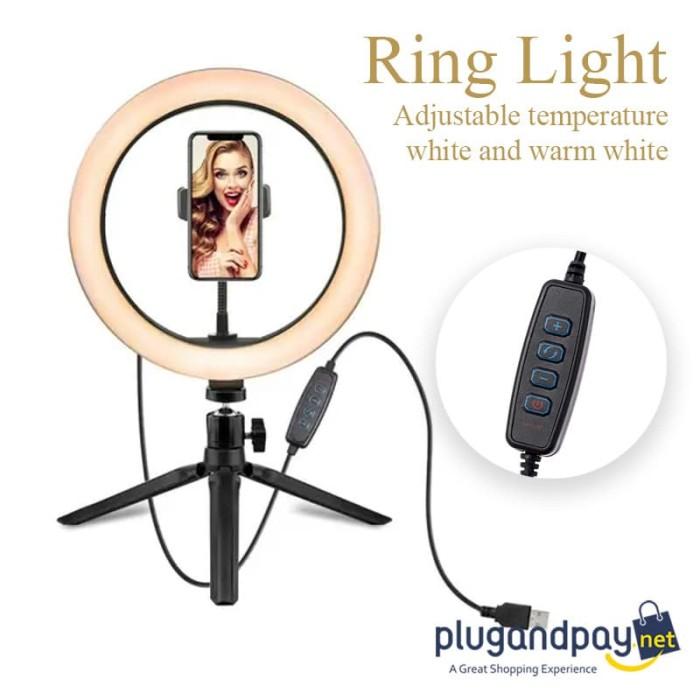 Foto Produk Lampu Ring Light Fotografi Studio Led Video Ringlight 8W 6 Inc Lampu dari plugandpay