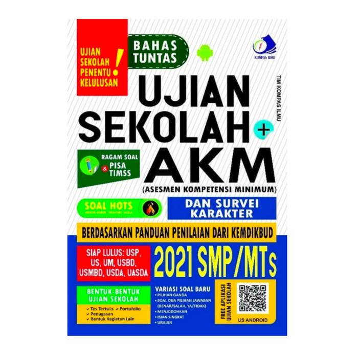 Jual Buku Ujian Sekolah Smp Mts 2021 Akm Asesmen Kompetensi Minimum Kab Tangerang Mat Store Tokopedia