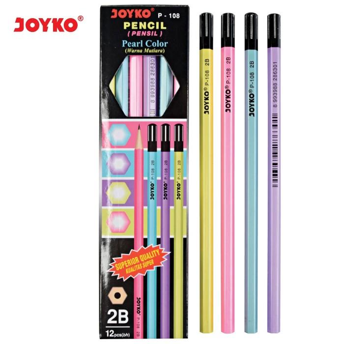 Foto Produk Pencil / Pensil Joyko P-108 / 2B / Pearl / 1 BOX 12 PCS dari JOYKO Official