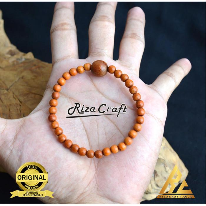 Foto Produk Gelang Tasbih Kesehatan 33 Butir Kayu Secang Merah ASLI dari Riza Craft