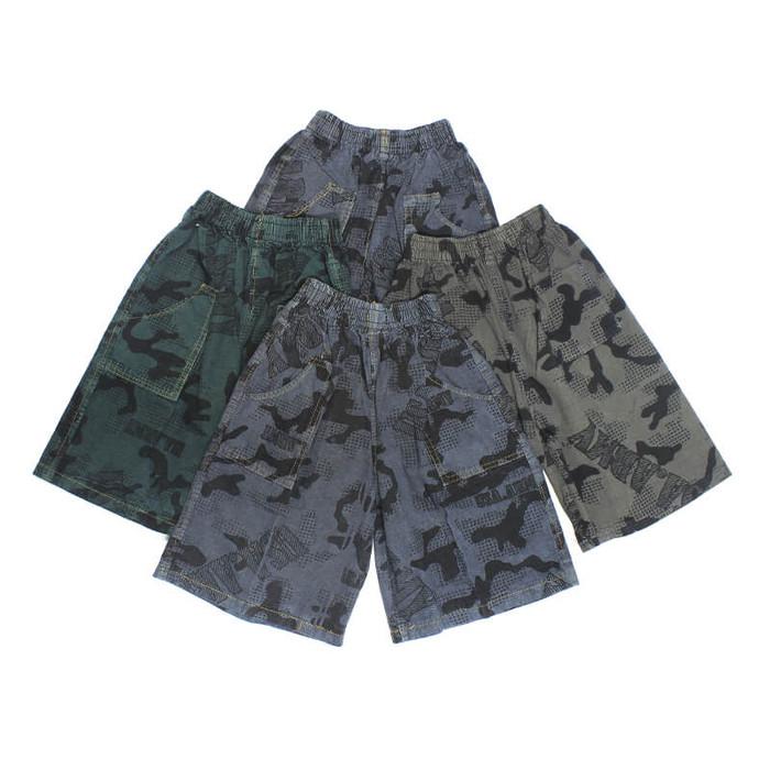 Foto Produk Bajuyuli - Celana Anak Laki Laki Pendek Loreng - Small 1-2 th dari Bajuyuli