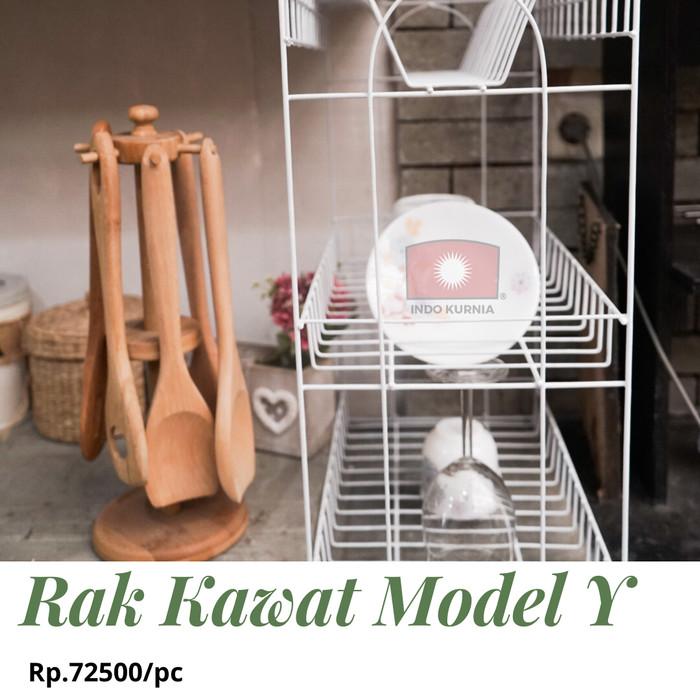 Foto Produk (GRAB/GOSEND) Rak Piring Kawat / Rak Gelas 3 Susun Coating Model Y dari Indokurnia