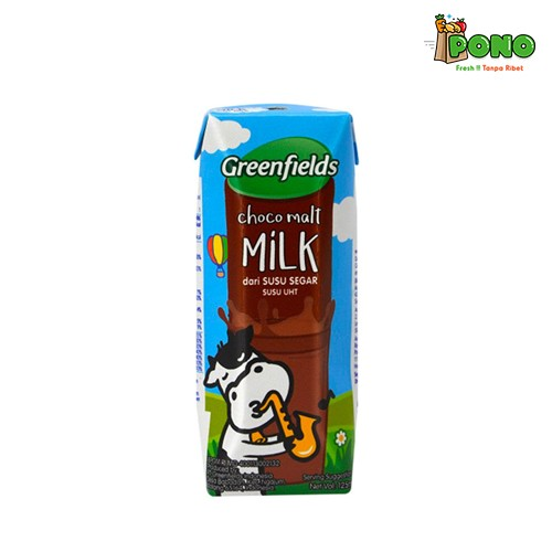 Foto Produk Greenfields UHT Choco Malt 125ml dari Pono Area Solo