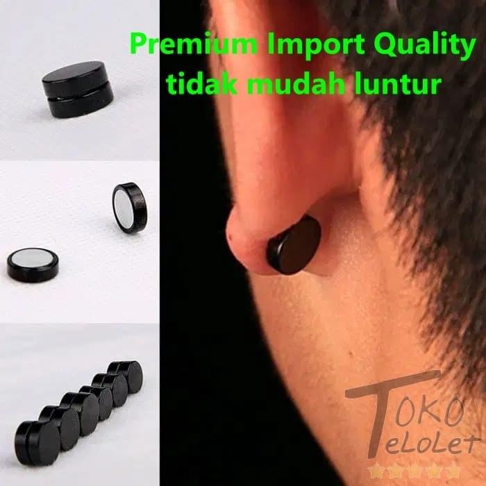 Foto Produk Anting Pria Magnet Kualitas Premium Import Bukan Piercing Tanpa Tindik dari TokoTelolet