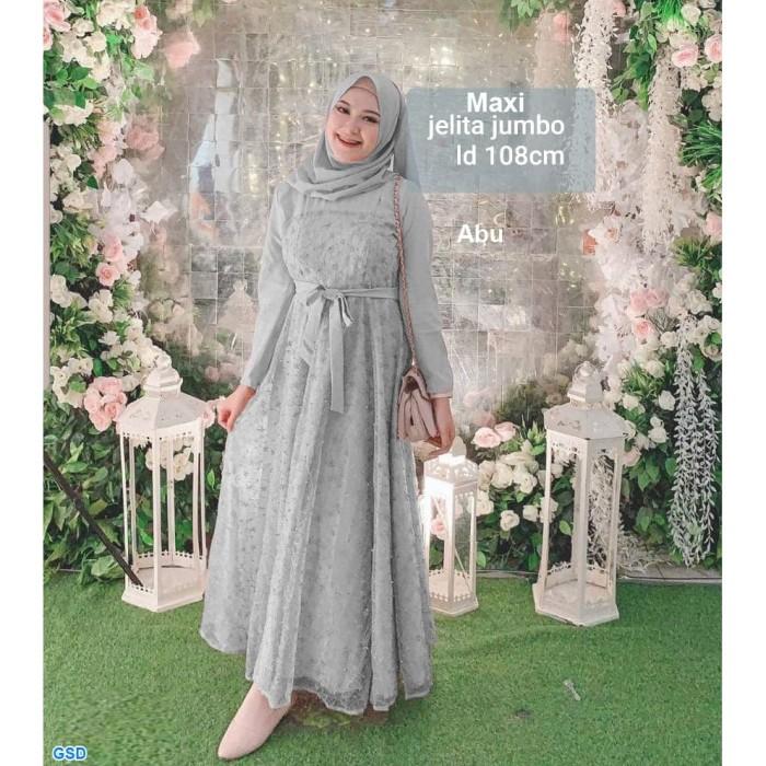 Jual Maxi Jelita Jumbo Abu Gamis Syari Wanita Pakaian Muslim Wanita Jakarta Utara Baju Perempuan Shop Tokopedia