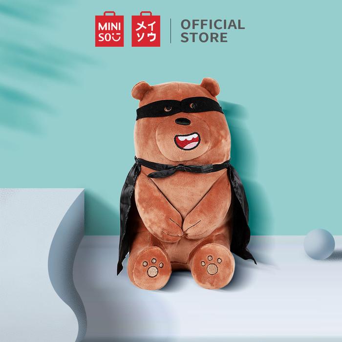 Foto Produk MINISO Boneka We Bare Bears Berbahan Katun Bantal Lembut Dekorasi - Grizzly dari Miniso Indonesia