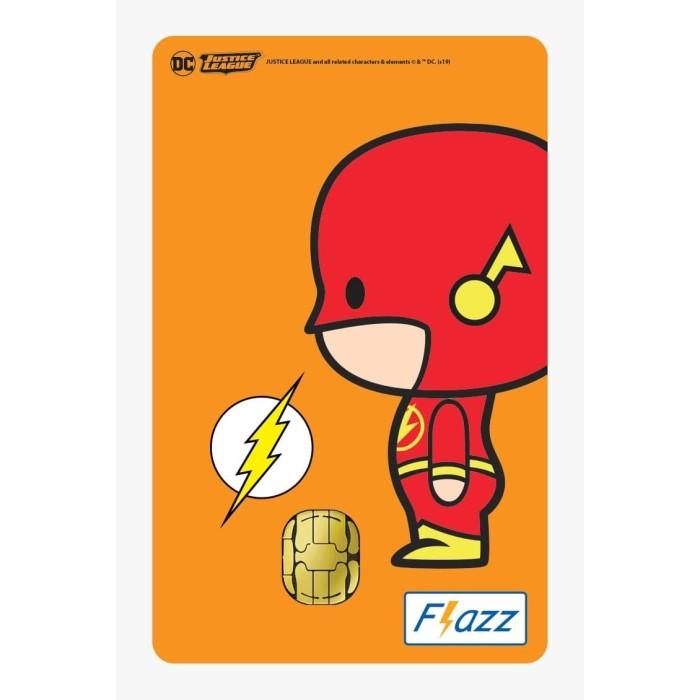 Foto Produk Kartu Flazz Limited Edition Justice League Chibi Flash Gen 1 dari Flazz Official Shop