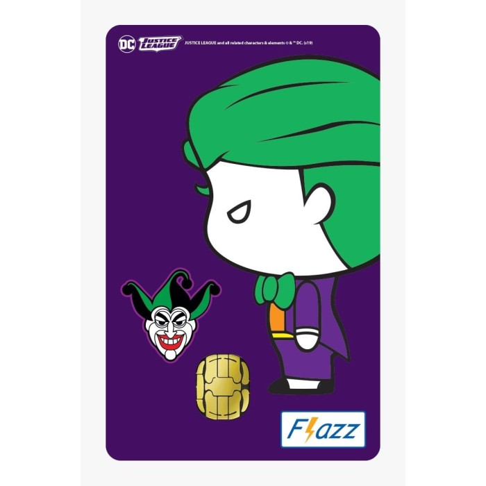 Foto Produk Kartu Flazz Limited Edition Justice League Chibi Joker Gen 1 dari Flazz Official Shop