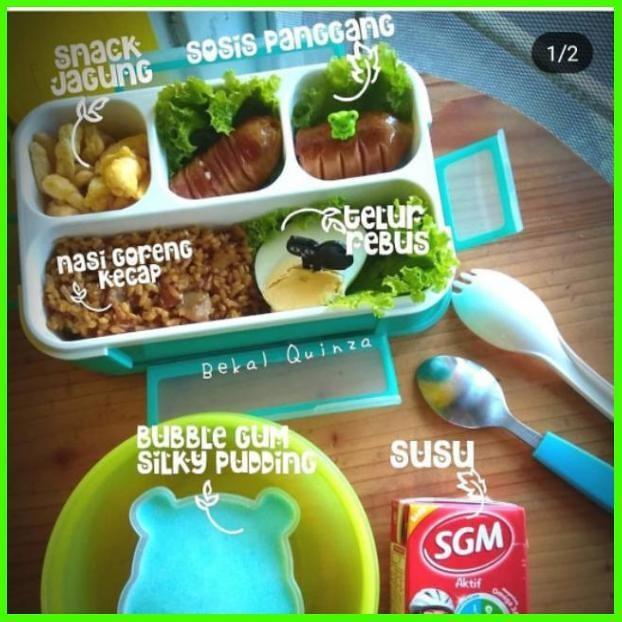 Jual Lunch Box Anak Tempat Makan Anak Yooye Lunch Box Anti Tumpah 3 4 Skat Jakarta Barat Markettama Tokopedia