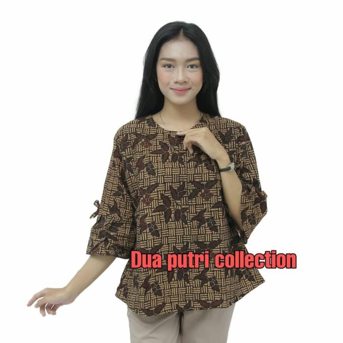 Foto Produk Batik Wanita Atasan Blouse wanita Motif Lengan Terompet READY S - 5L - S dari BATIK DUA PUTRI